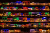 Rochester Michigan; Christmas 2008, Big Bright Light Show Panorama of both sides of 3 block of Downtown Rochester